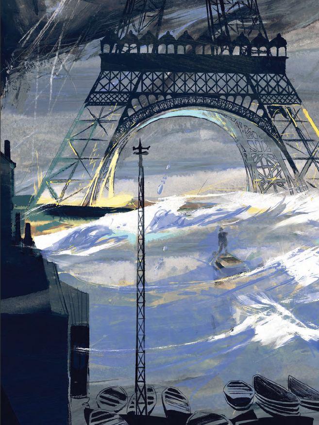 À la dérive Tour Eiffel 1910