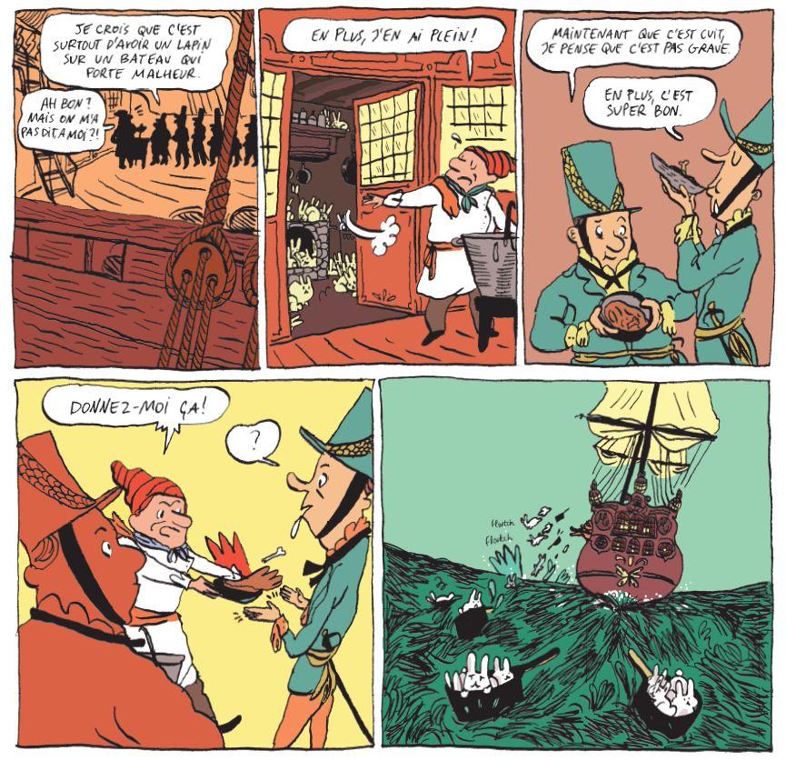 Perles et pirates Clotka Zaoui Casterman Lapin