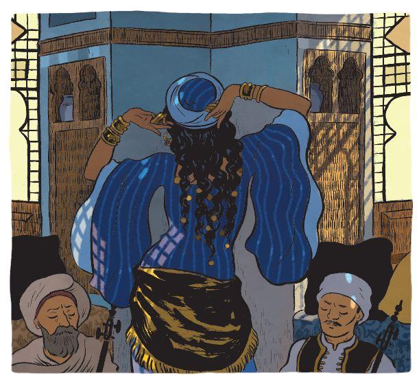 Une saison en Égypte Claire Fauvel Casterman Danseuse