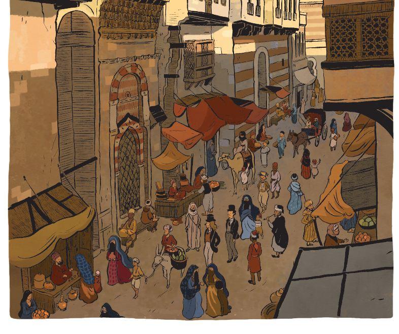 Une saison en Égypte Claire Fauvel Casterman rue