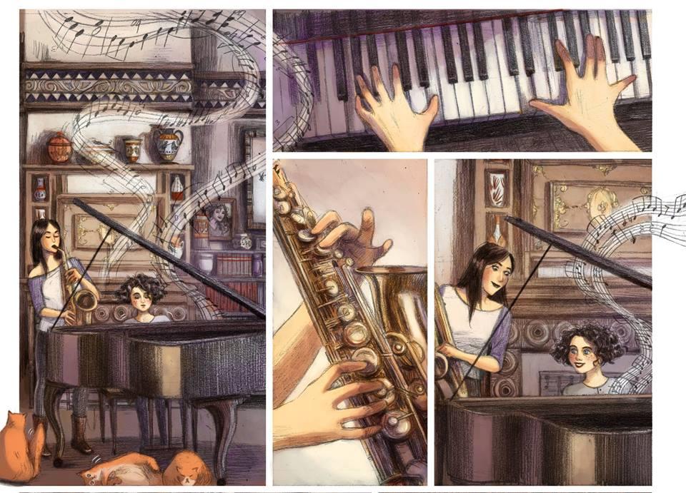Chaque soir à onze heures Eddy Simon Camille Benyamina Malika Ferdjoukh Casterman musique
