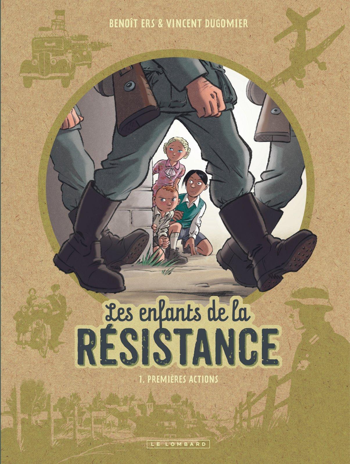 Les enfants de la résistance Ers Dugomier Le Lombard Couverture