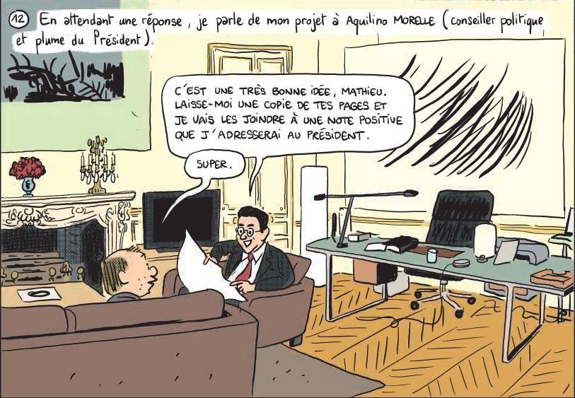 Mathieu Sapin - Le Château - Élysée - Dargaud - attente réponse