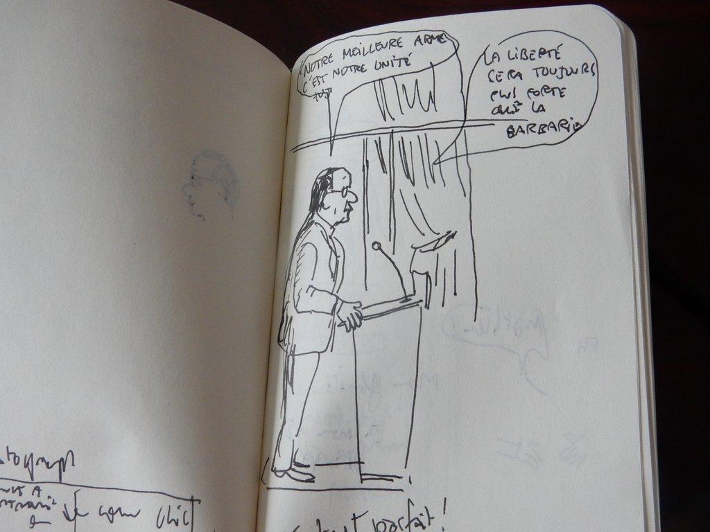 Mathieu Sapin - Le Château - Croquis et prises de notes (3)