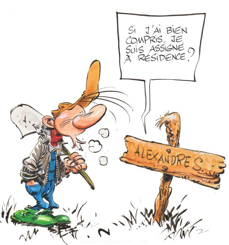 Pierre Tombal Marc Hardy Assigné à résidence