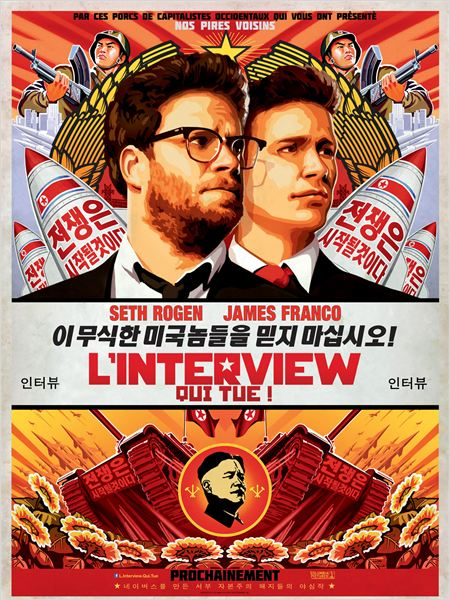 The Interview - Seth Rogen - James Franco - Affiche
