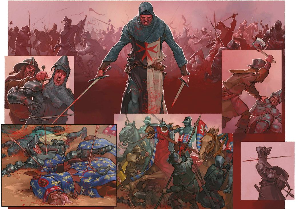 Le chevalier à la licorne - Piatzsek - Escalada - Combat