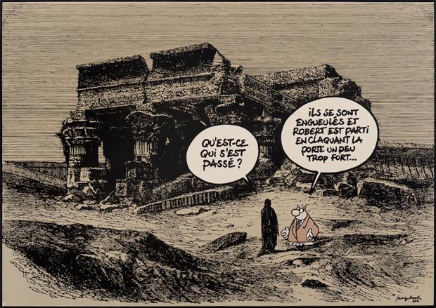 Philippe Geluck - gravure détournée