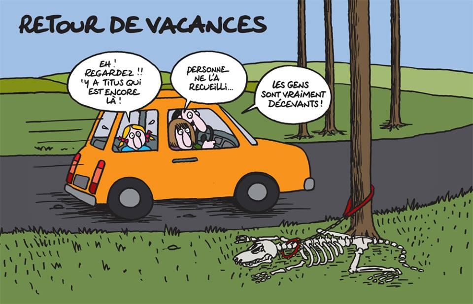 Philippe Geluck - Le Chat fait des petits - abandon chien