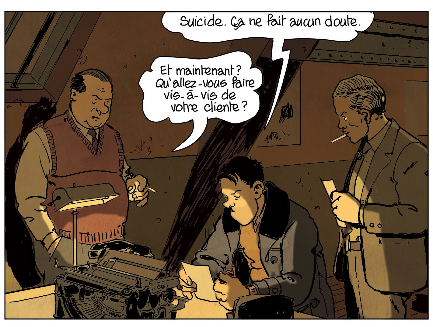 Nestor Burma - BD - Barral - Micmac moche au boul'mich - suicide