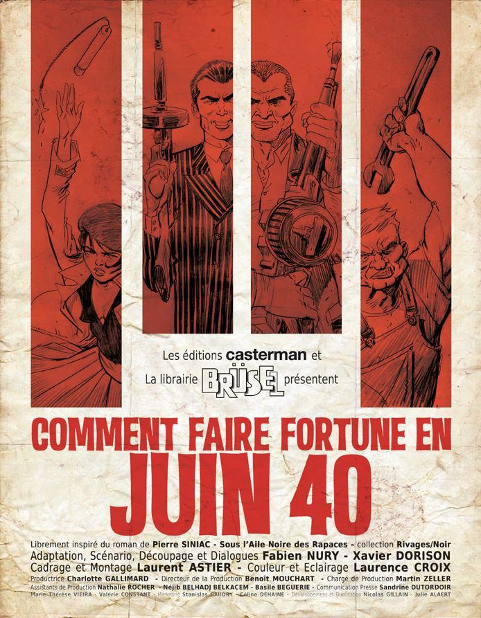 Dorison - Nury - Astier - Comment faire forune en juin 40 - Affiche film