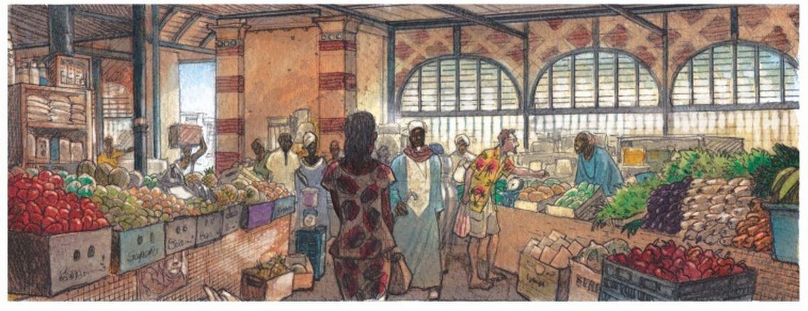 Bellefroid - Baruti - Chaos debout à Kinshasa - marché