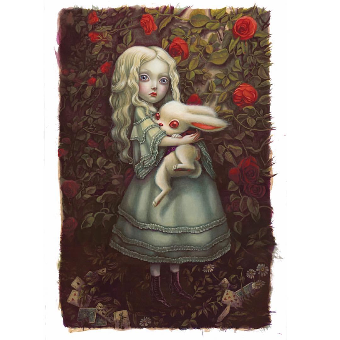Alice Au Pays Des Merveilles 2016 - Lewis Carroll - Benjamin Lacombe - Alice et lapin blan