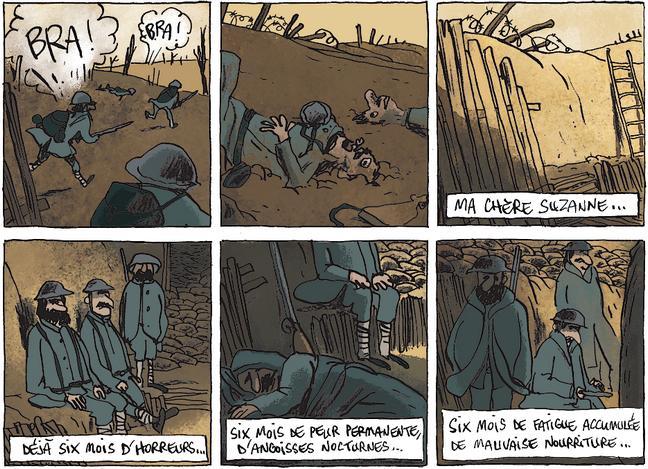 Bouzard - Les poilus frisent le burn-out - tranchees