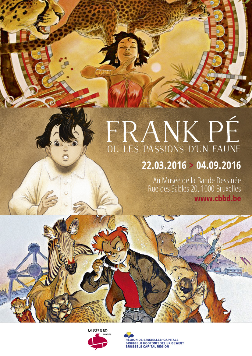 Frank Pe - les passions d'un Faune - expo - Affiche