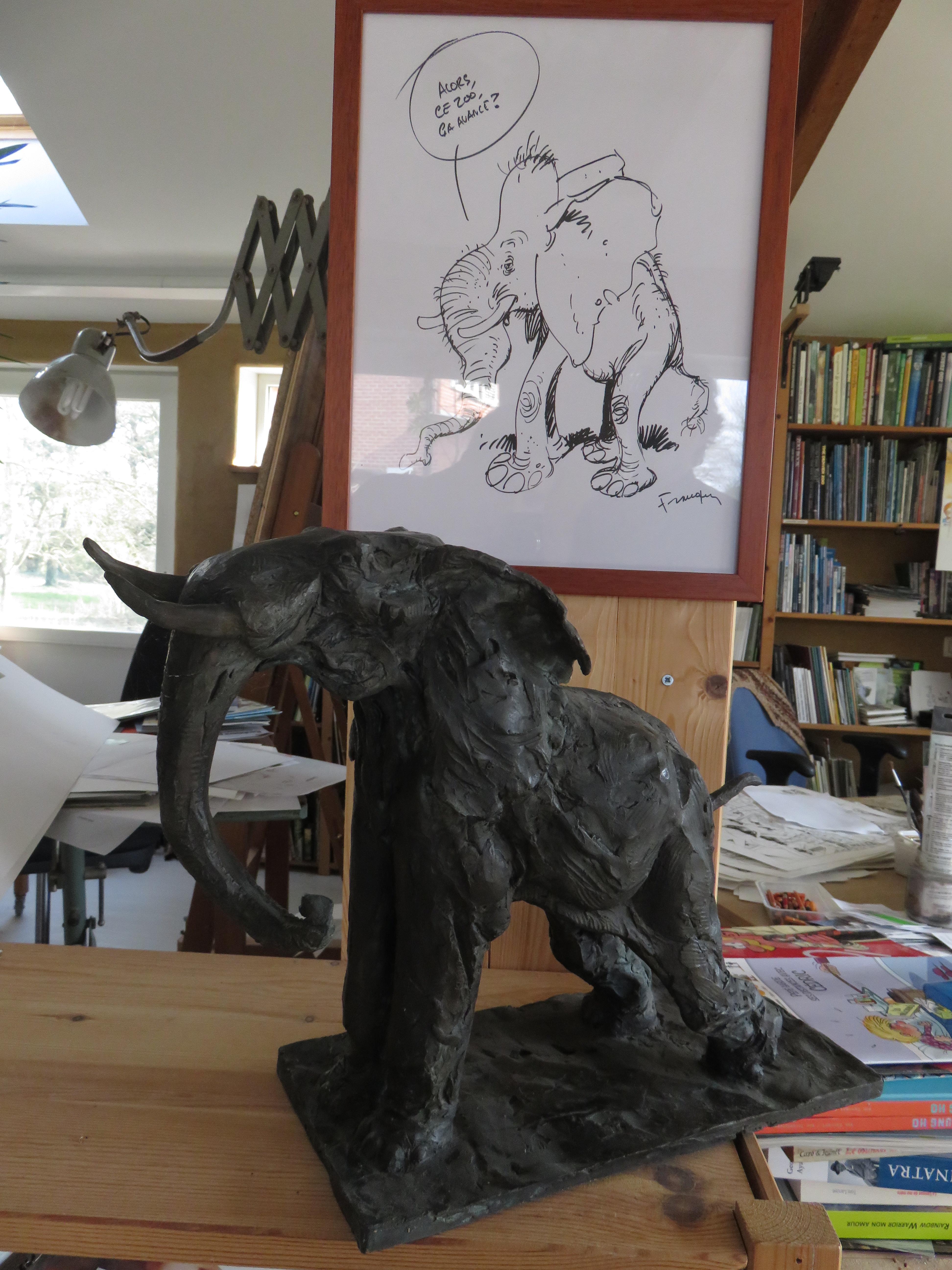 Frank Pe - Sculpture éléphant