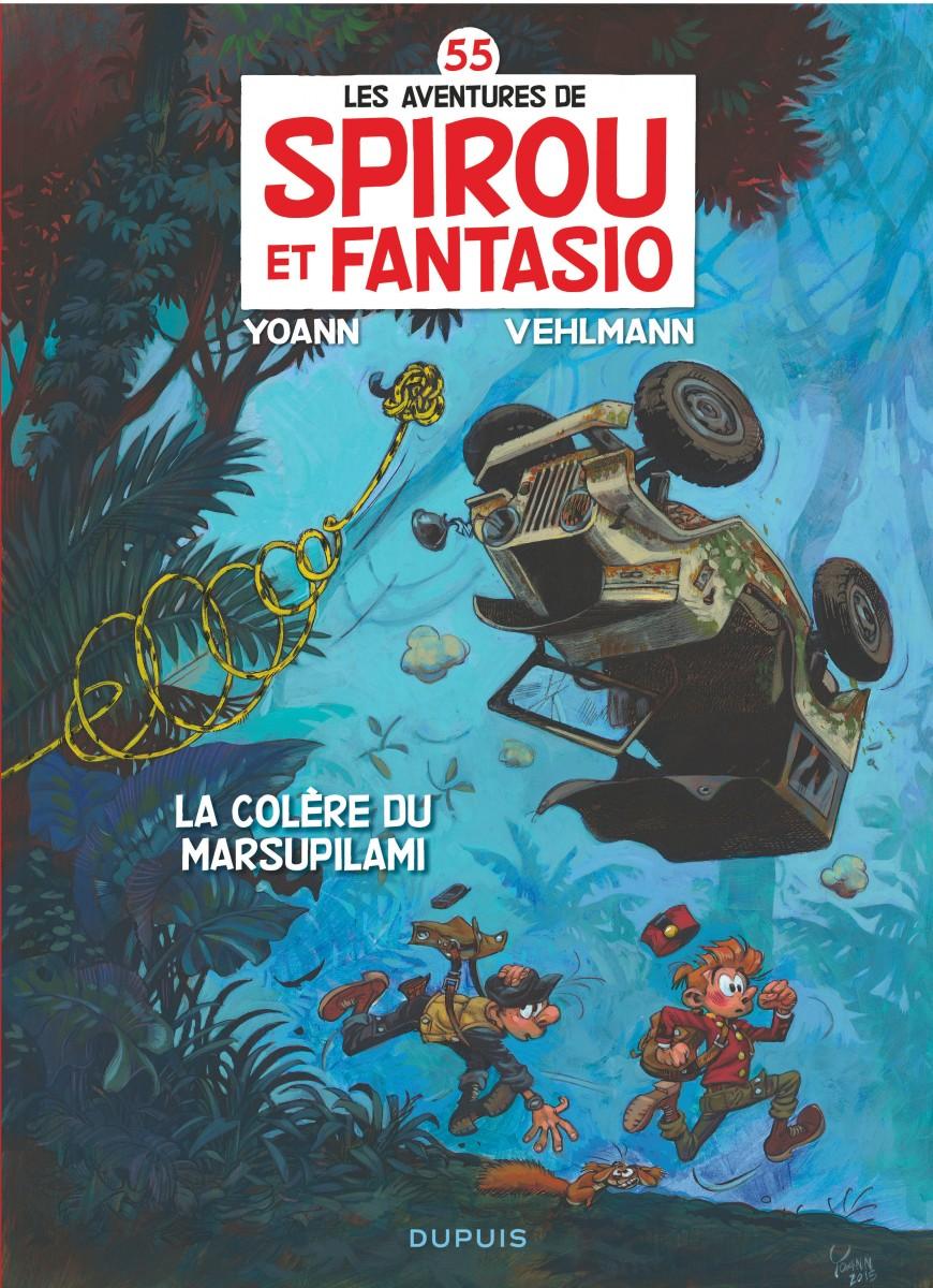 Spirou et Fantasio - La colere du Marsupilami - Yoann - Vehlmann - Couverture