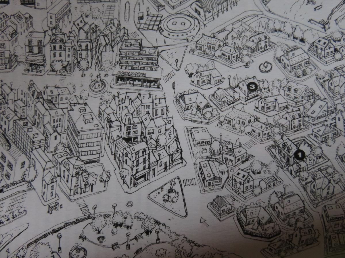 Cedric - anniversaire - tome 30 - Sillence je tourne - Cauvin - Laudec - plan village
