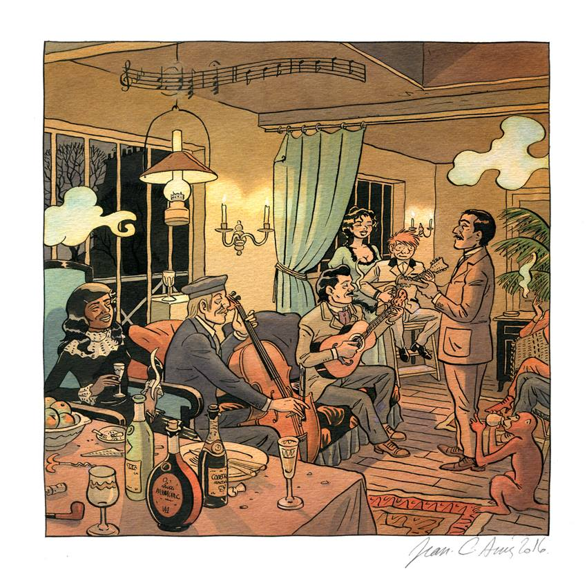 Jean-C. Denis - Luc Leroi - Galerie Oblique - musique chez gauguin