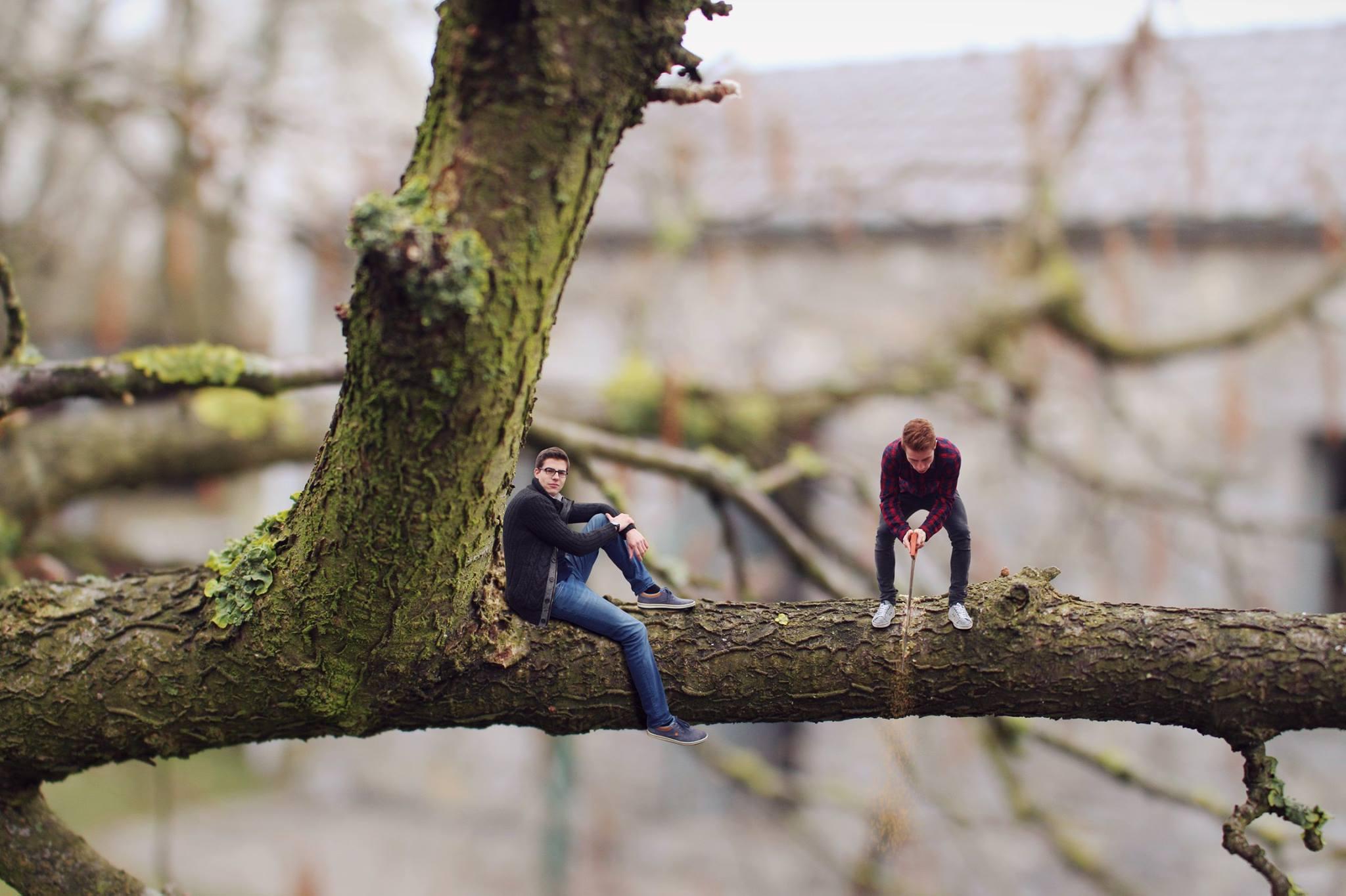 Les miniboys - scie la branche