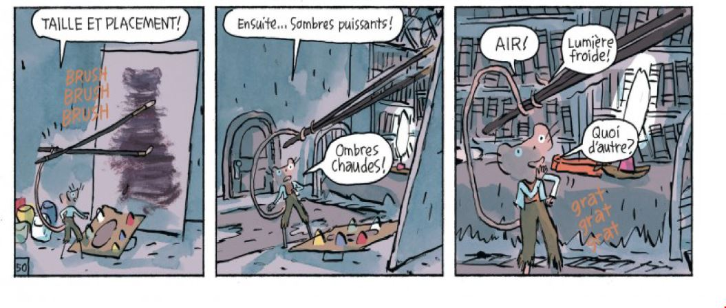 Musnet - la souris de Monet- Kickliy - apprentissage peinture