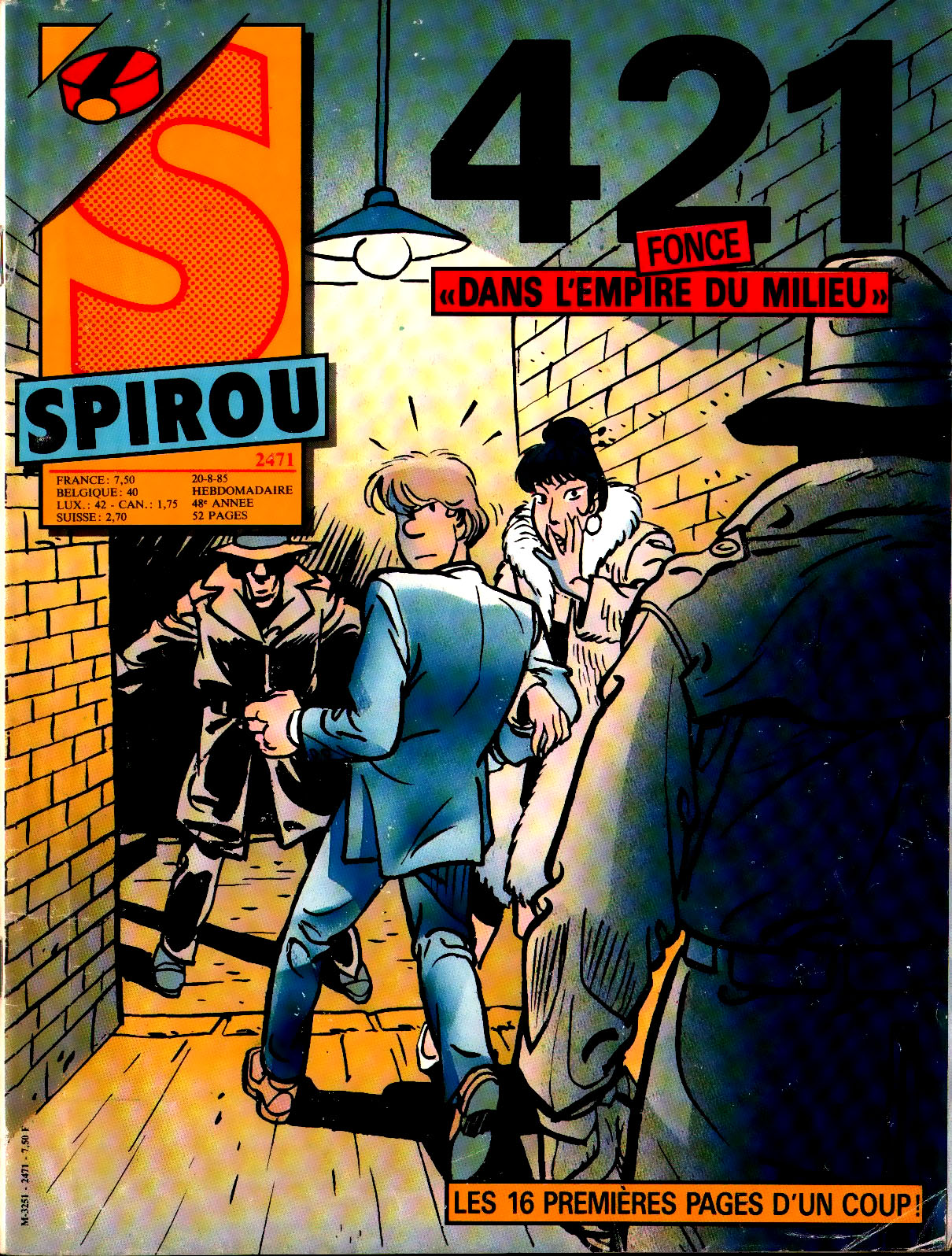 421 - maltaite - desberg - couverture Spirou 2