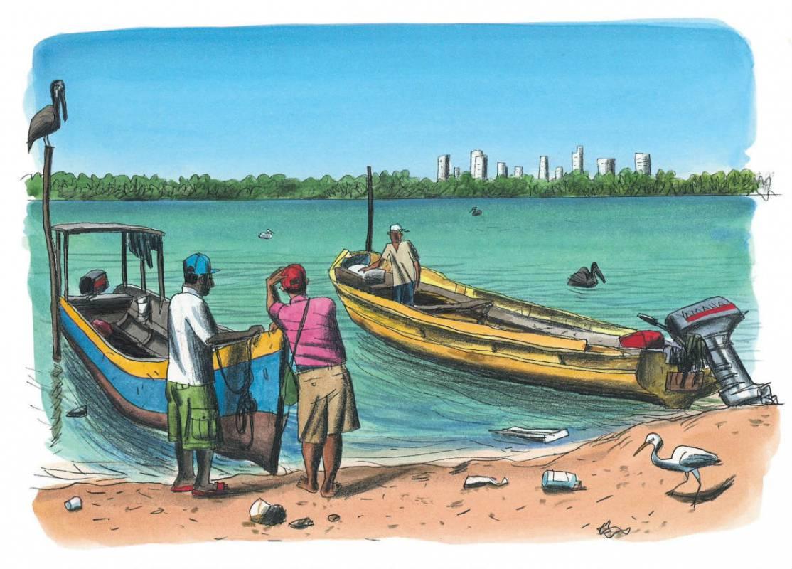 Carthagene - Loustal - depardon - bateau a moteur