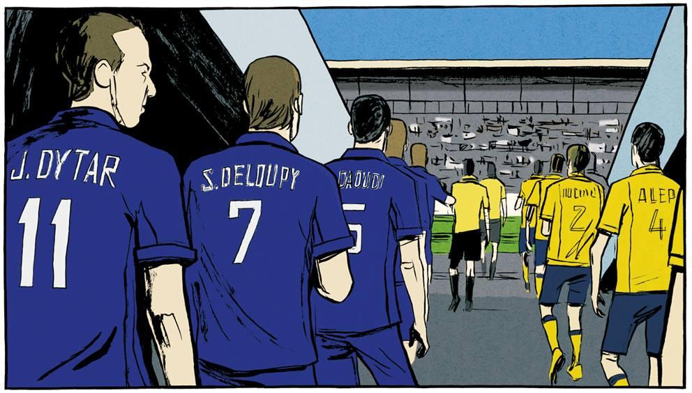 Le contrepied de Foe - Galandon - Vidal - entree stade