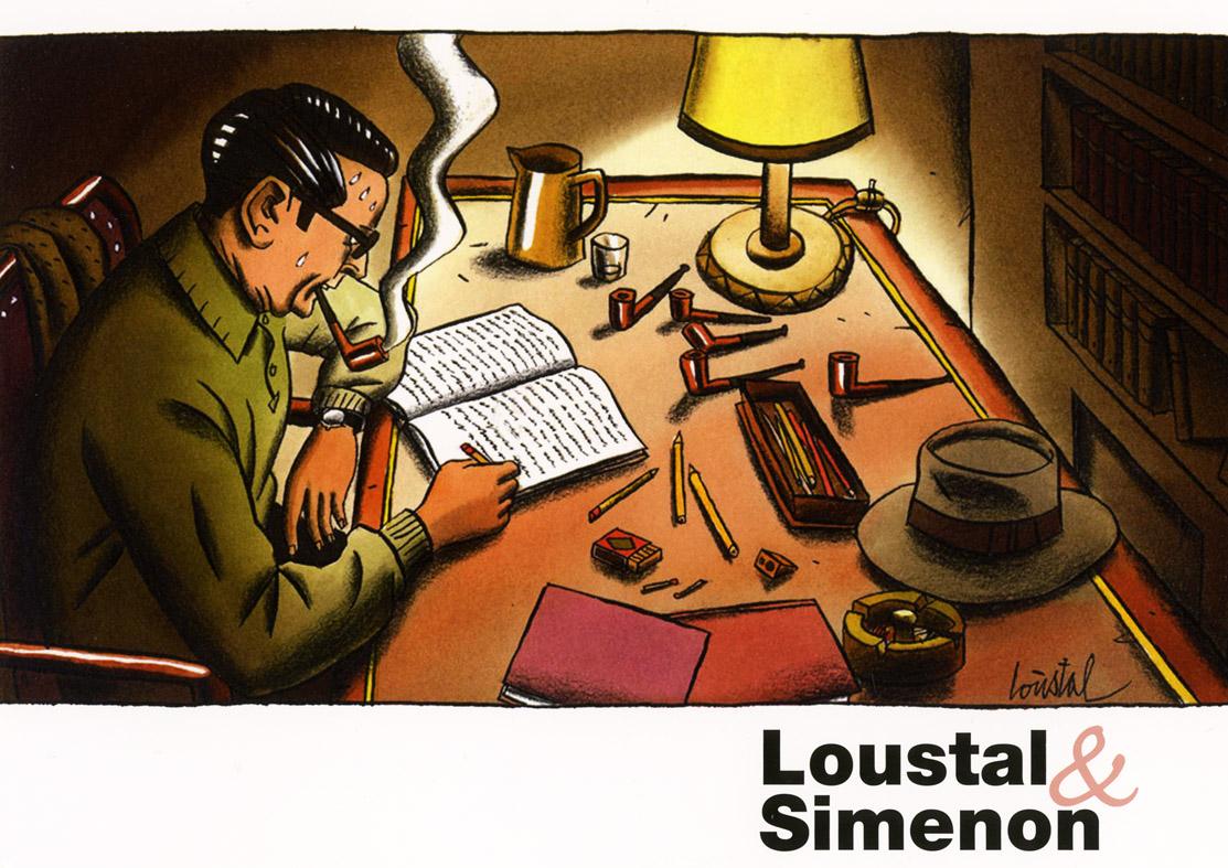 Loustal - exposition -Simenon