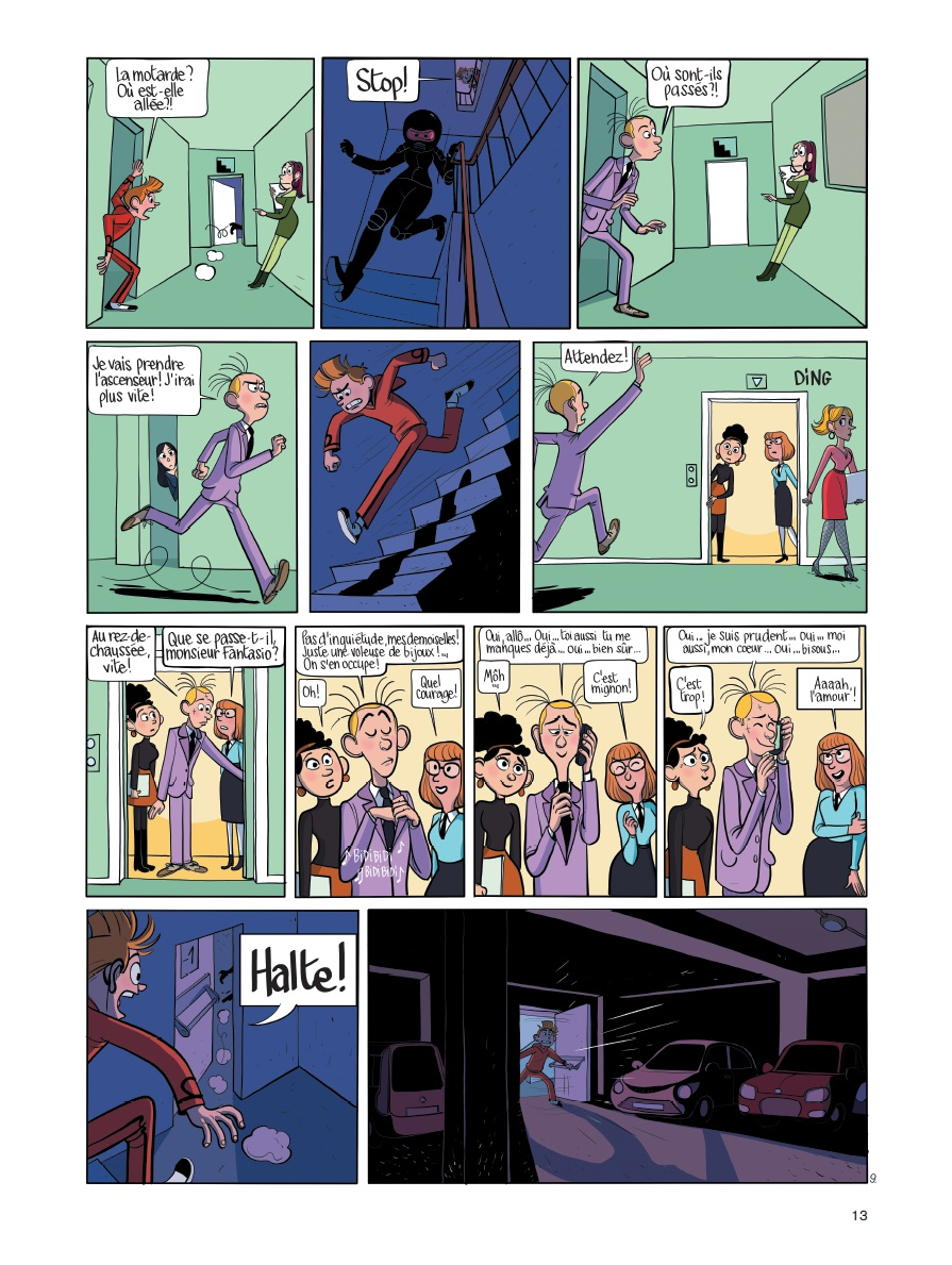 Spirou - Fantasio se marie - Benoit Feroumont - Planche 9