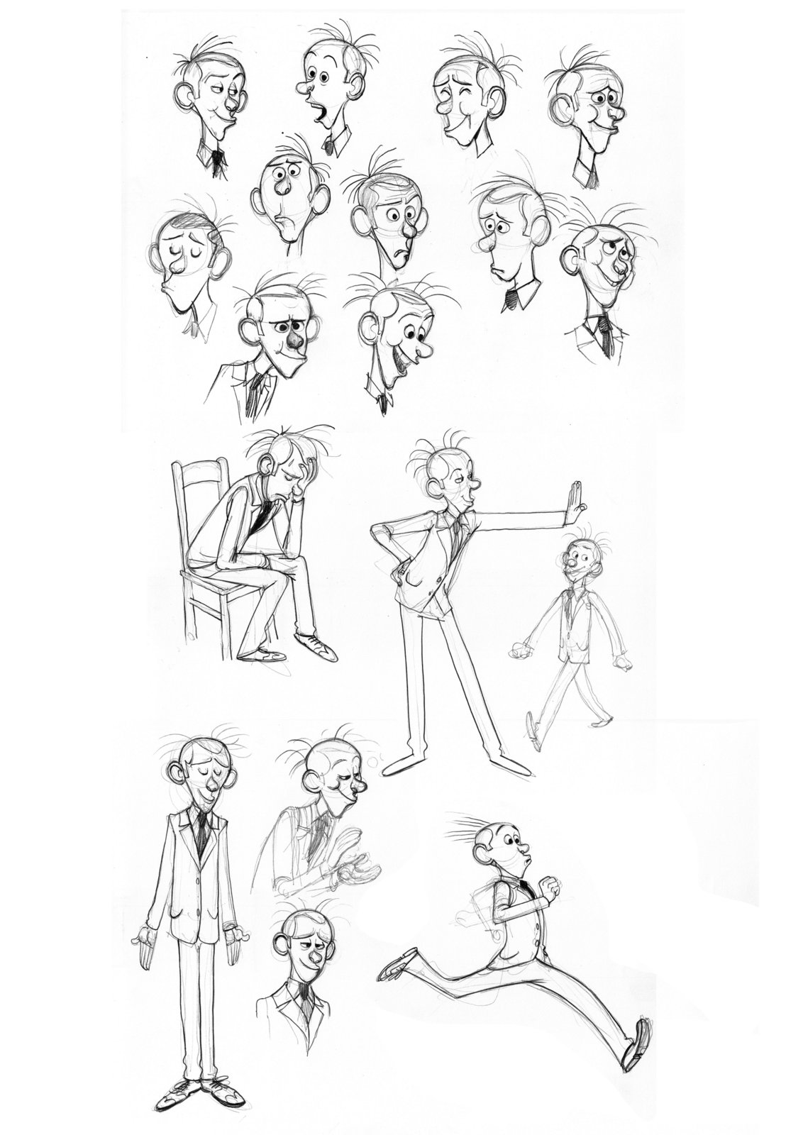 Spirou - Fantasio se marie - Benoit Feroumont - Rercherches_design_Fantasio