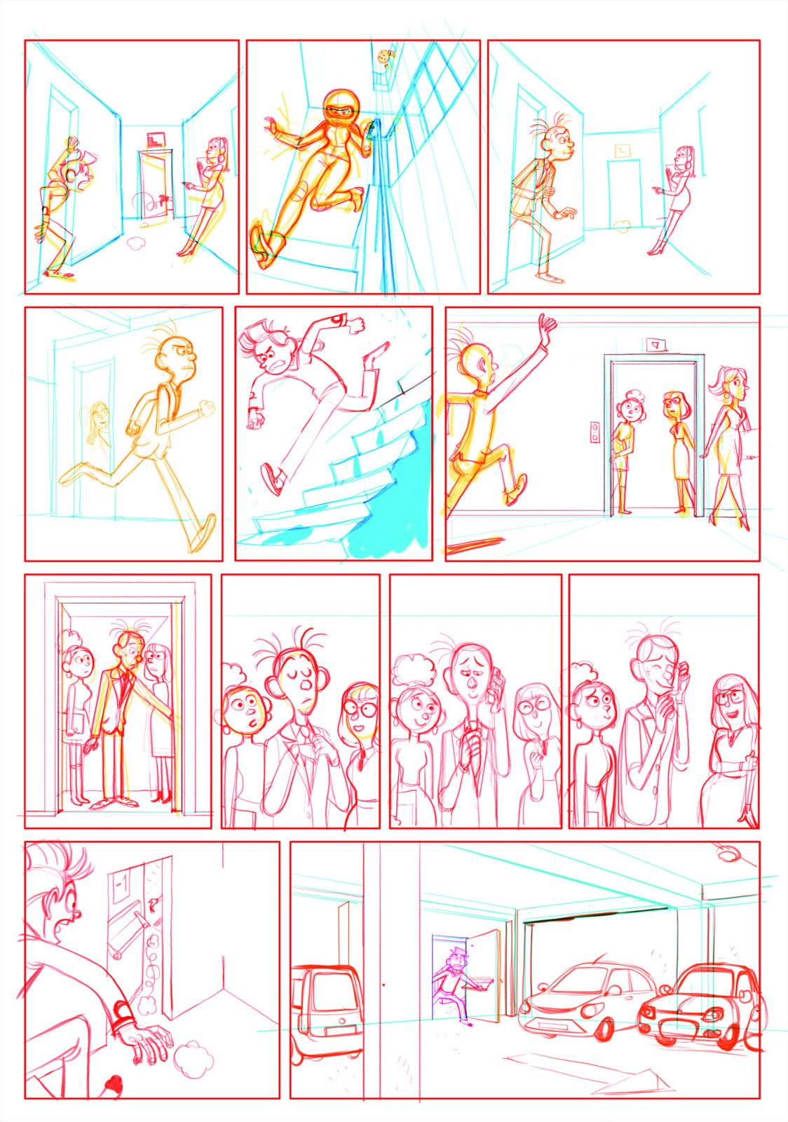 Spirou - Fantasio se marie - Benoit Feroumont - Spirou_crayon_09