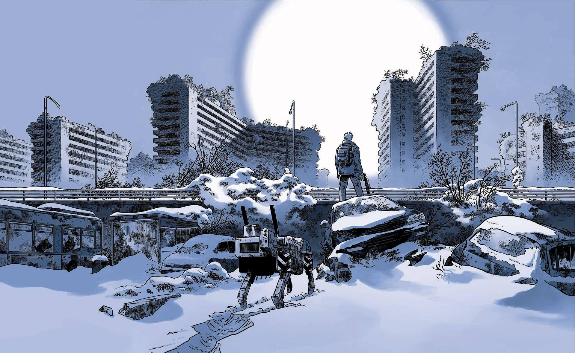 Soleil Froid - Pecau - Damien - T.1 - H5n4 - ville deserte