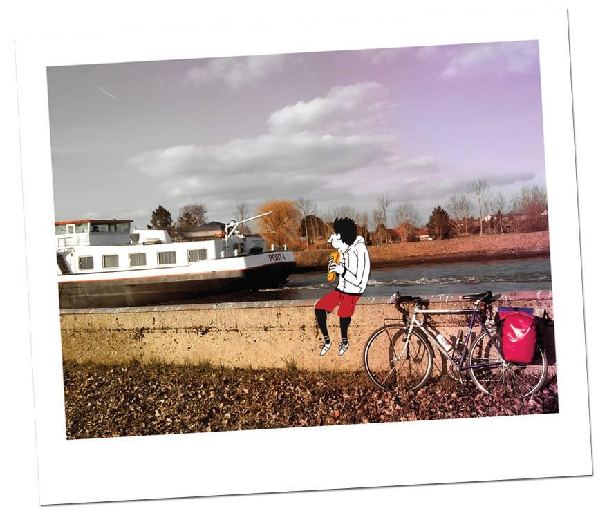 Tour de Belgique a velo - Monsieur Iou - pause