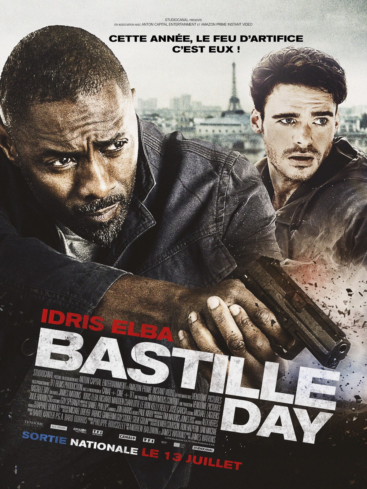 Bastille Day - Critique - Watkins - Idris Elba - Richard Madden