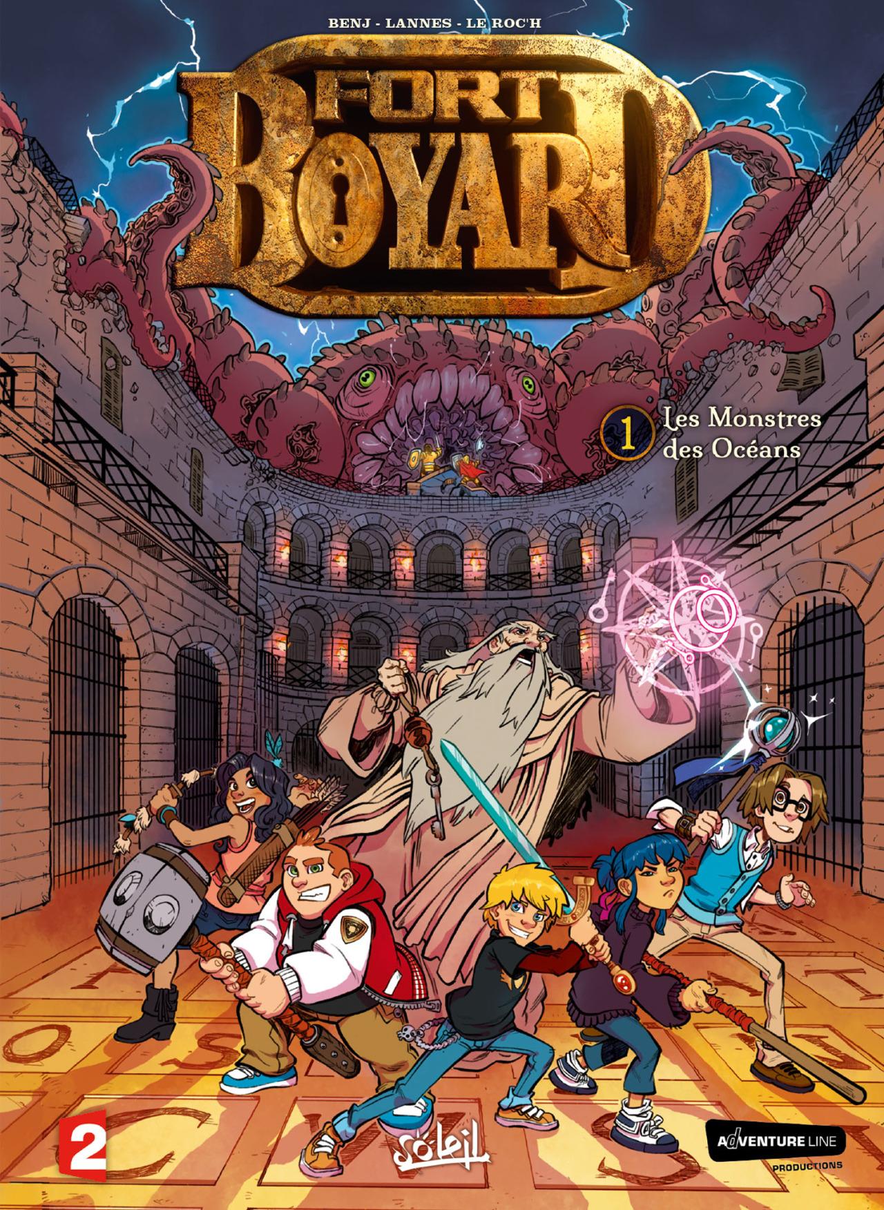 Fort Boyard - tome 1 - BenJ - Lannes - Le Roc'h - Odonne - couverture finale
