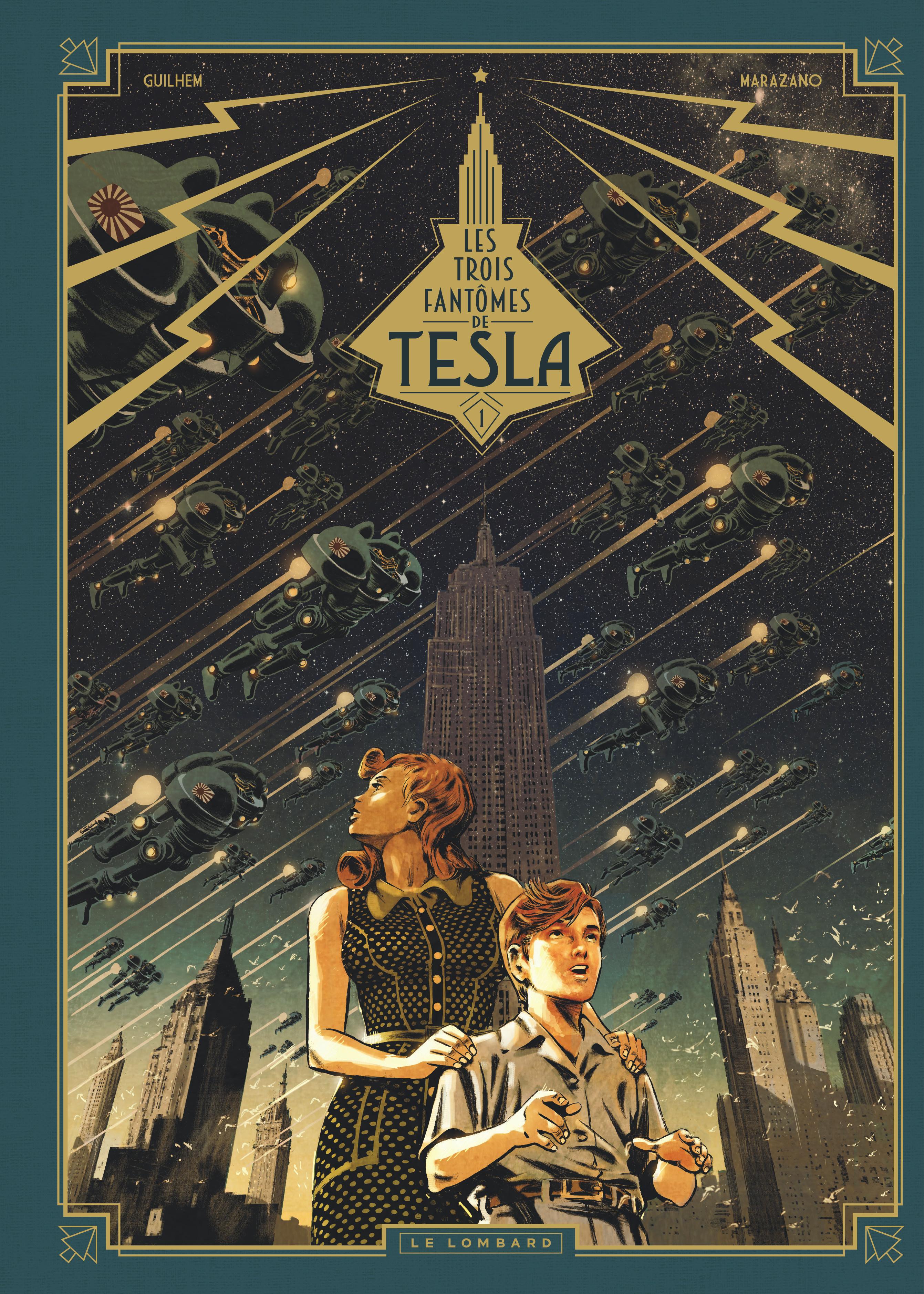 Les trois fantomes de Tesla - Marazano - Guilhem Bec - Couverture