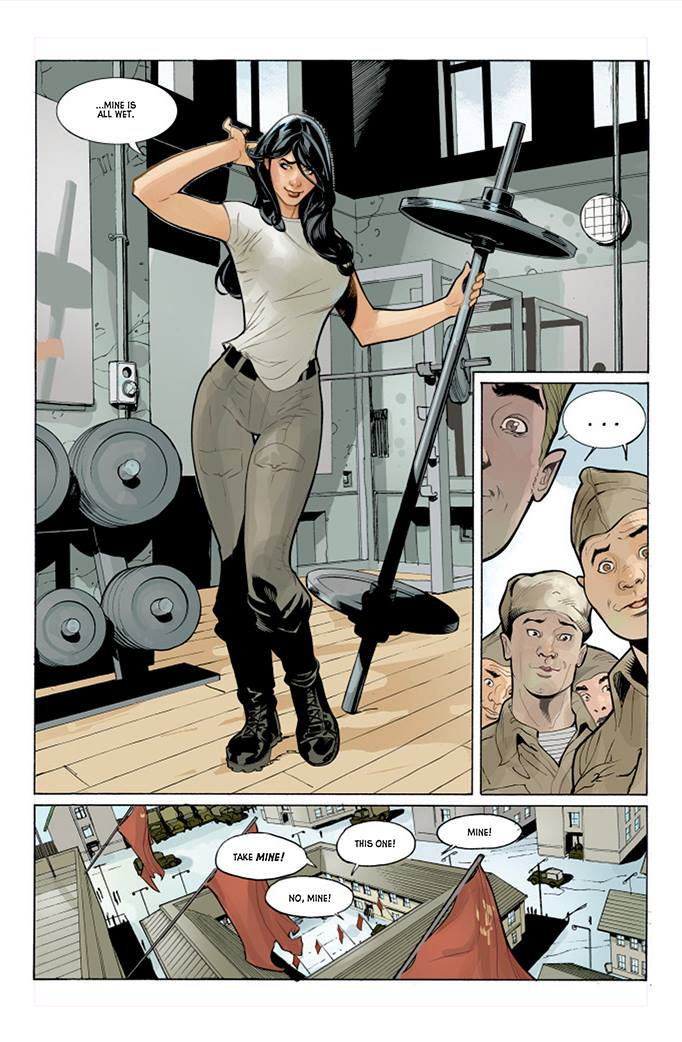 Red Skin - Terry Dodson - travail - super-heroine - entrainement