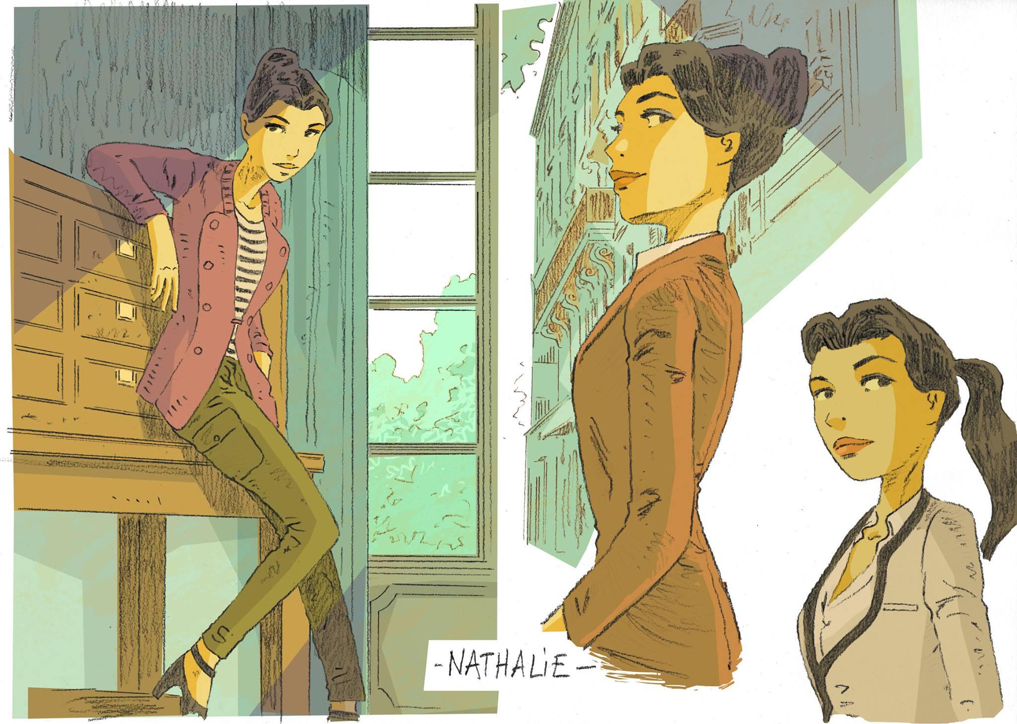 Recherches autour du personnage de Nathalie © Cyril Bonin