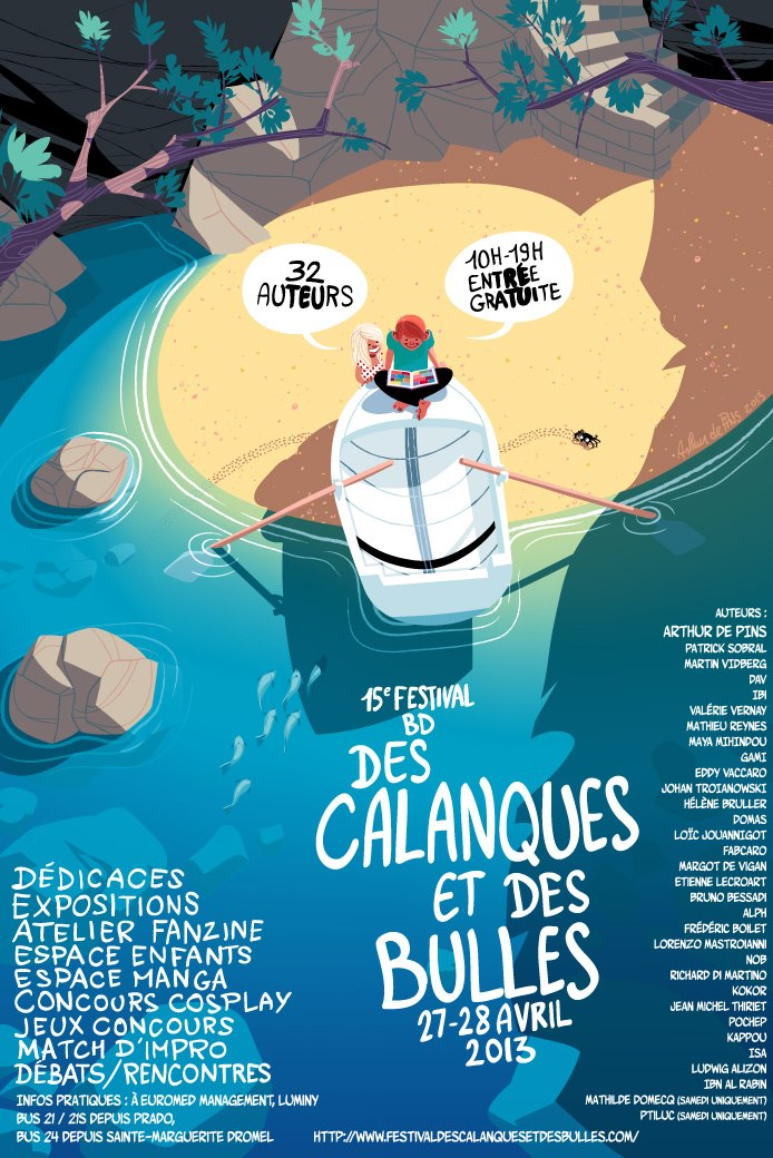 L'affiche pour la 15ème édition du festival Des Calanques et des Bulles. © Arthur De Pins
