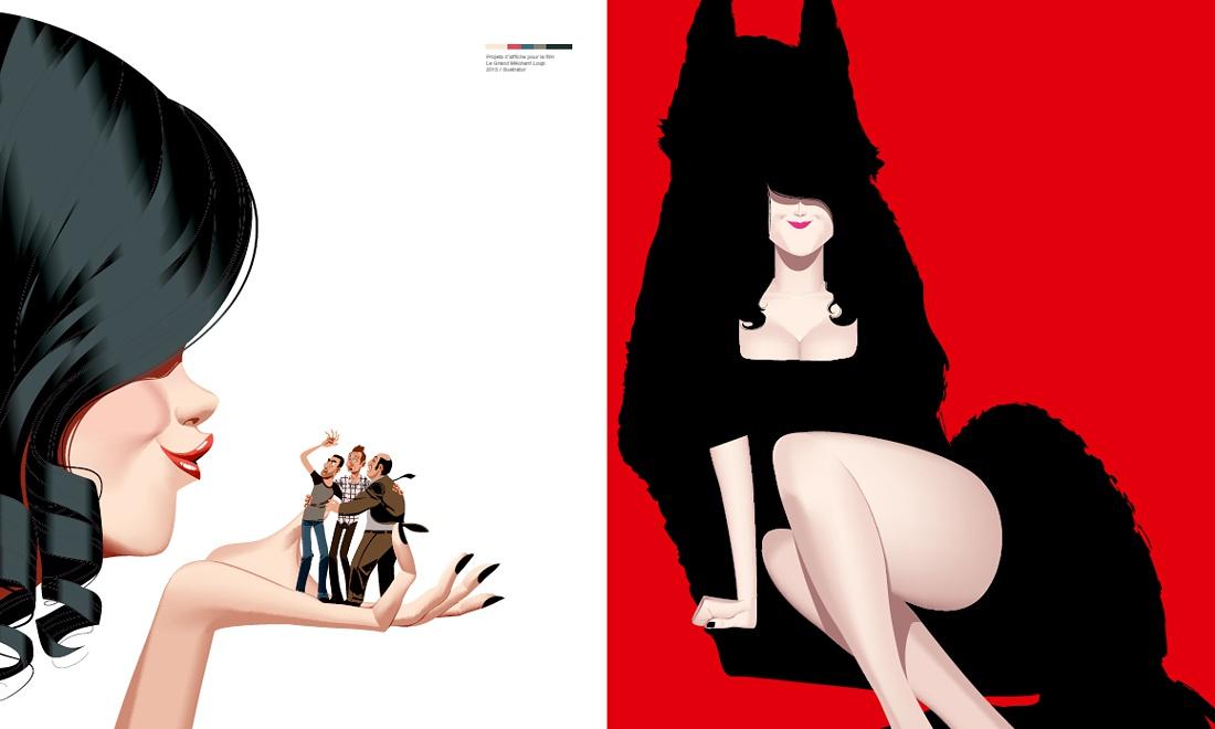 Projets d'affiche pour le grand méchant loup © Arthur De Pins