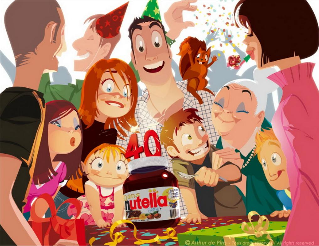 Publicité pour Nutella © Arthur De Pins
