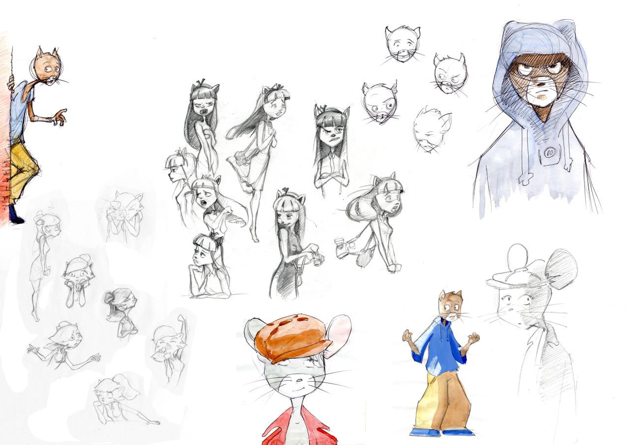 Un exemple de character design © Corentin Lecorsier
