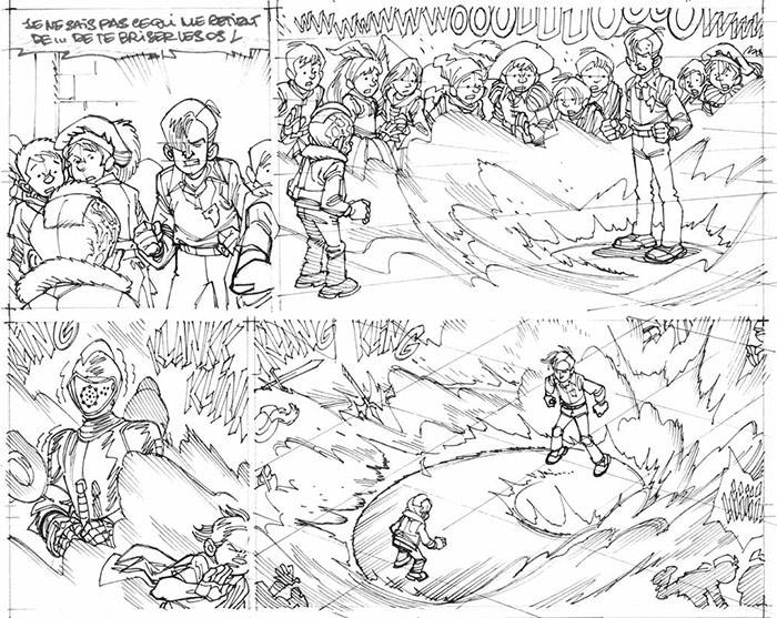 Crayonné sous influence d'Akira? ©Vehlmann et Gazzotti