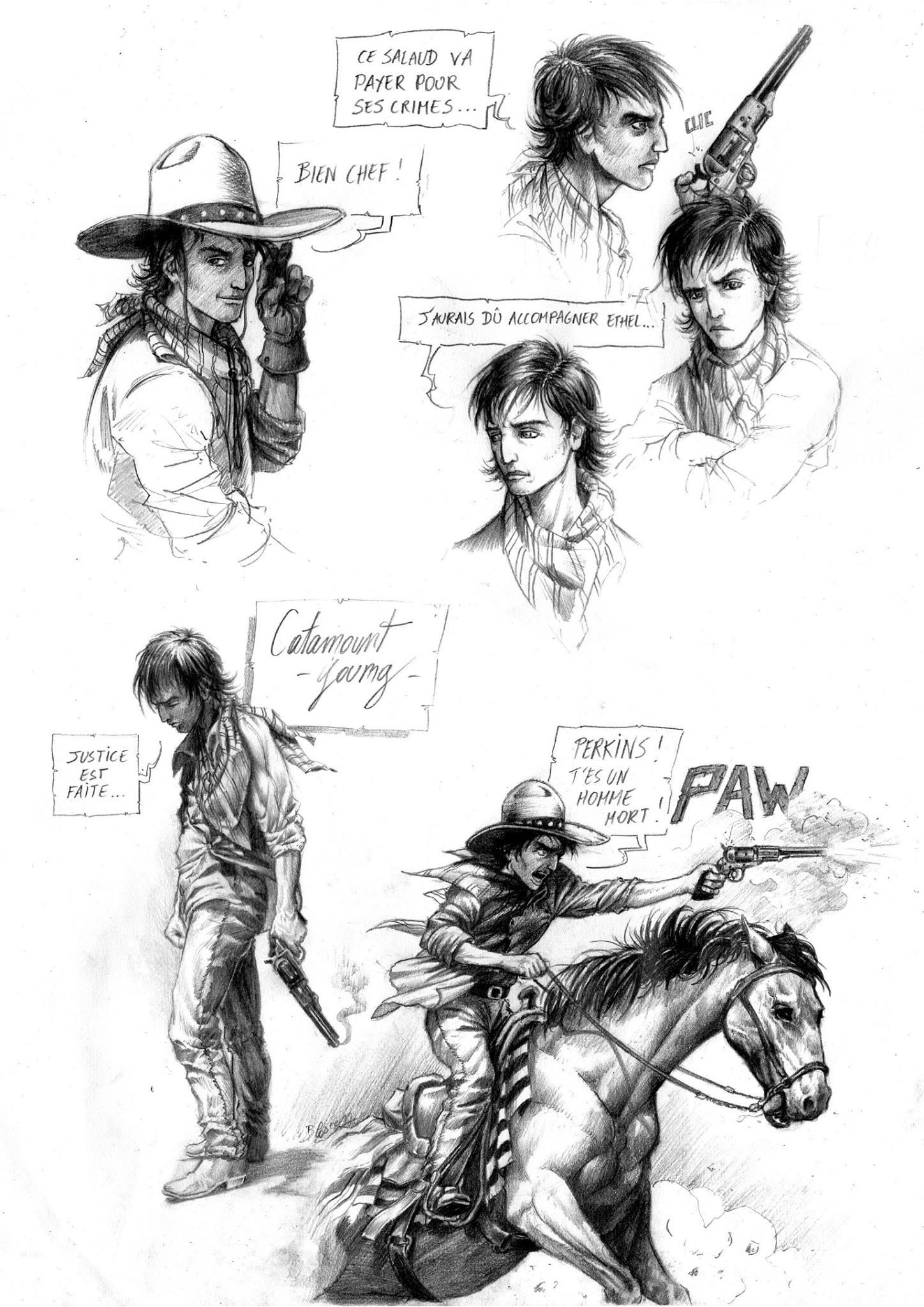 Recherches pour le personnage de Catamount © Benjamin Blasco-Martinez