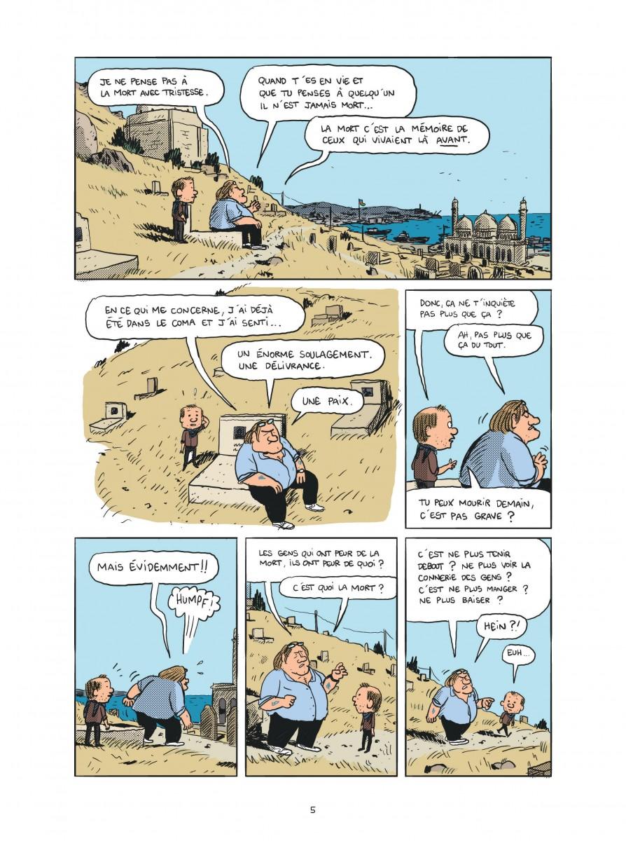 Cinq ans dans les pattes de Gérard Depardieu – BD -Mathieu Sapin -P.3