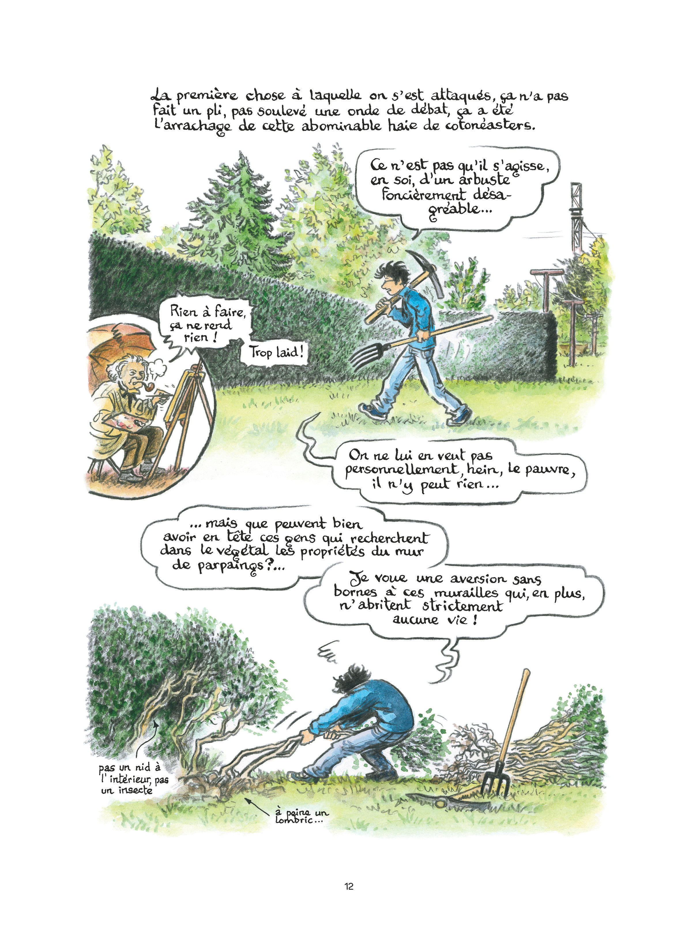 L'oasis – Simon Hureau – jardin – documentaire – ecologie biodiversité – faune – flore – p.4 – Branchés Culture